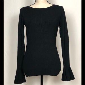 Michael Kors Black Long Bell Sleeve Sweater